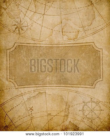 old map cover template or background