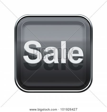 Sale Icon Glossy Grey, Isolated On White Background