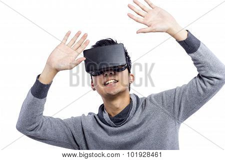 Wearing Virtual Reality Goggles