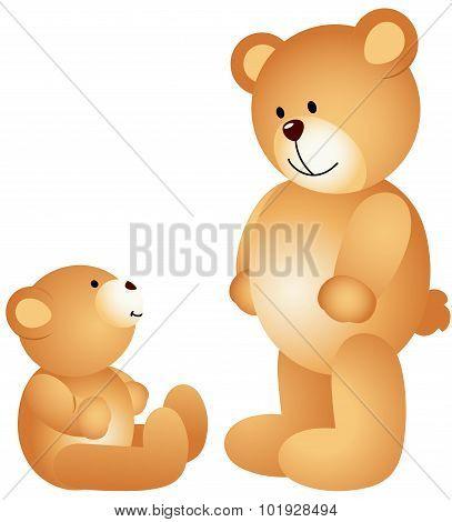 Teddy bear dad with son