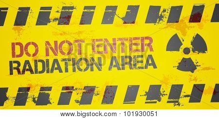 detailed illustration of a grungy Radiation Area background, eps10 vector