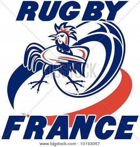 rugby ball france rooster cockerel