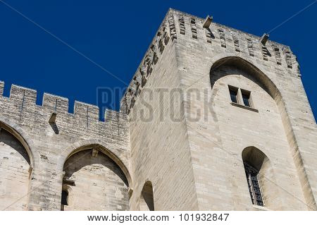 Avignon - View On Popes Palace, Provence, France