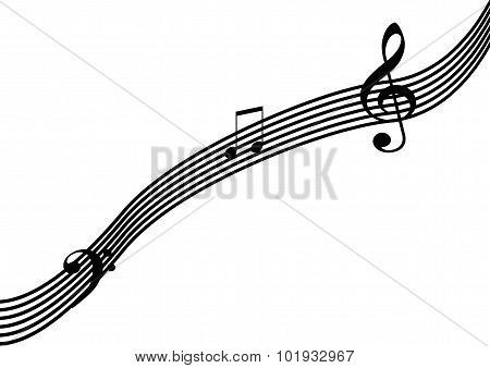 Music Notation On White