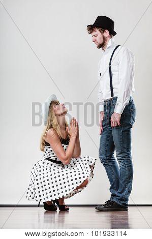 Girlriend Trying To Convince Boyfriend.