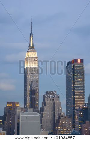 Empire State Building And New Yorker Hotel