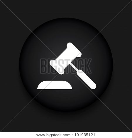 Vector modern courthouse black circle icon
