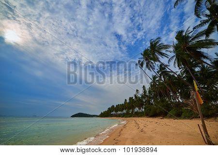 Evening beach Asia.