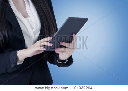 business woman with the tablet