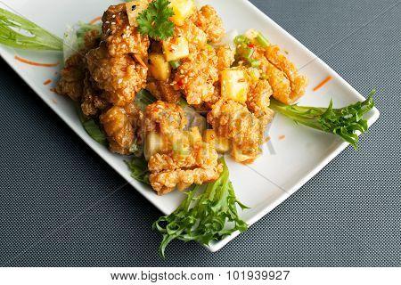 Thai Pineapple Fried Calamari