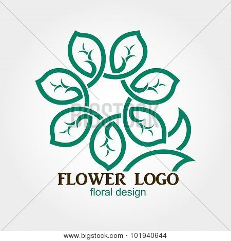 Flower Logo, Abstract, Geometric shape, Business symbol