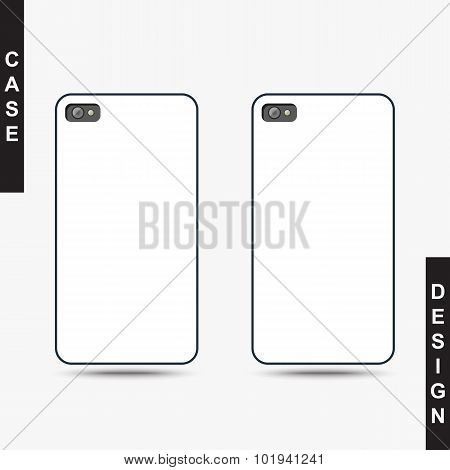 Isolated template cover for phone create presentation and design