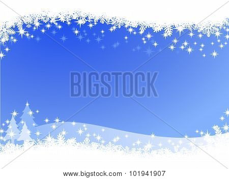 Christmas winter sky lights background
