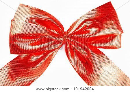 red bow ribbon isolated on white