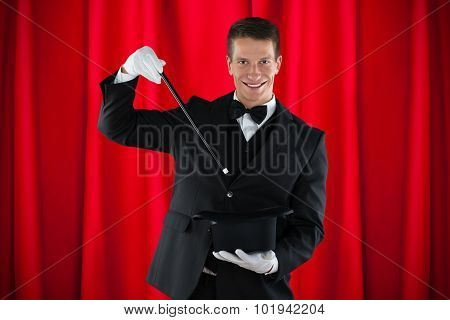 Magician Showing Magic Trick