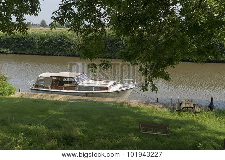 Yacht In Canal