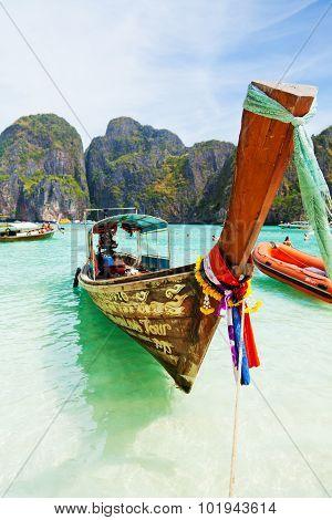 Longtail Boats, Maya Bay, Thailand