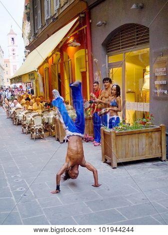 Street Dancers In Nice