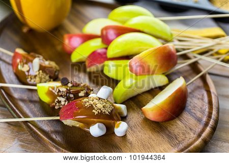 Caramel Apples Toppings