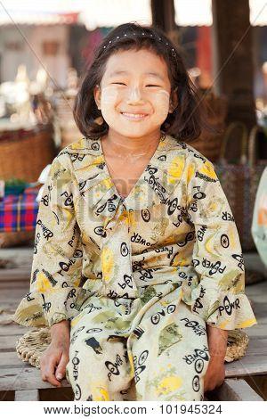 Young Burmese Girl Portrait, Inle Lake