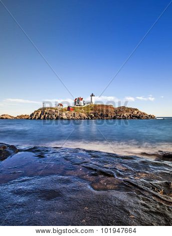 The Nubble Light At Cape Neddick, Maine, USA