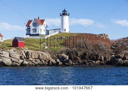 Nubble Lighthouse at Cape neddick in Maine, USA