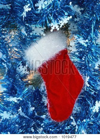 Red Velvet Christmas Stocking.