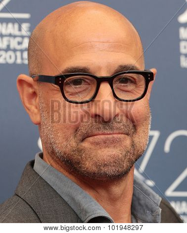 Stanley Tucci at the photocall for Sportlight at the 2015 Venice Film Festival. September 3, 2015  Venice, Italy