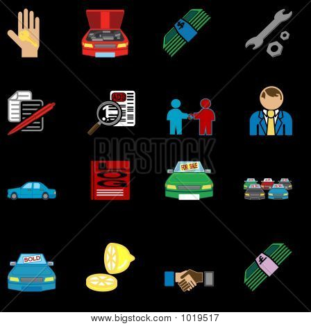 Car Purchase Icons