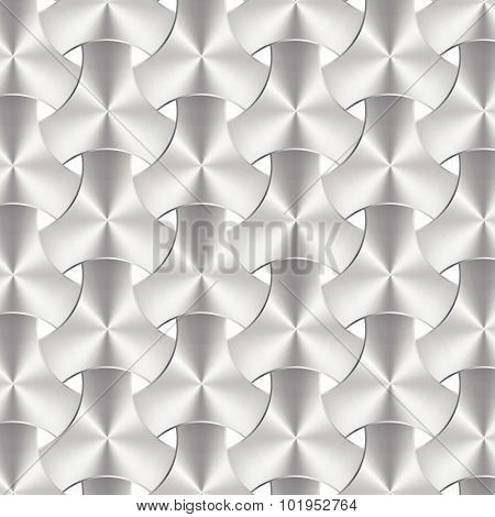 Aluminum Or Metal Weave Texture, Background Vector