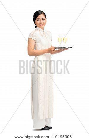 Vietnamese waitress