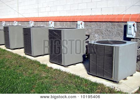 Commercial Air Conditioner Compressor AC Units Row