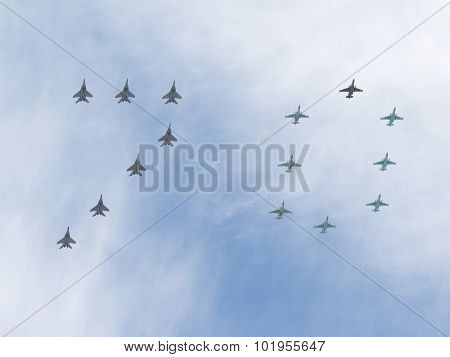 A Large Number Of 70 Aircraft