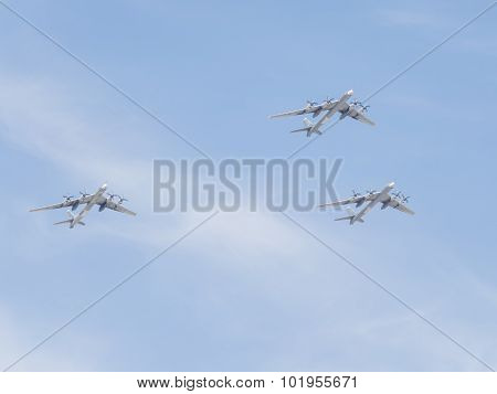 Tu-95 At The Victory Parade