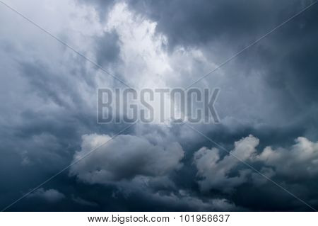 Dramatic Sky With Dark Stormy Clouds