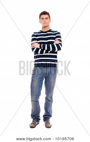 Young Man Standing Firmly