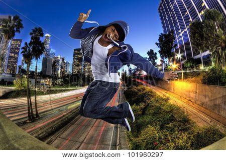 Stylish Urban Man In Los Angeles