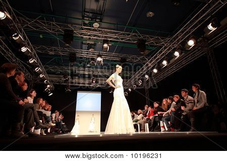 Models оn Podium Of Cpm Collection Premiere In Expocenter
