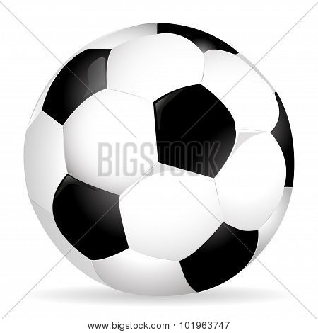 Soccer ball on the entire screen with a shadow stylish