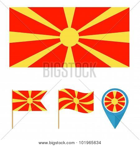 Macedonia,country Flag