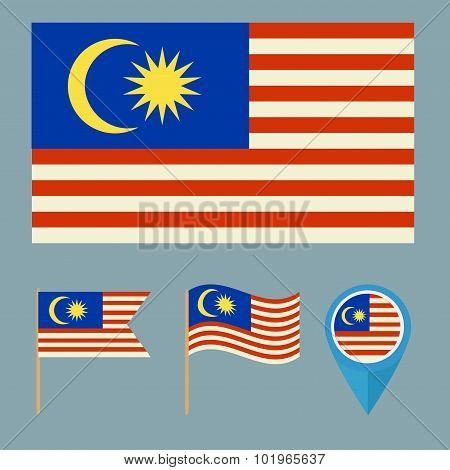 Malaysia. Country Flag