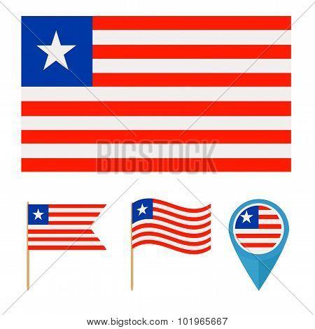 Liberia,country Flag
