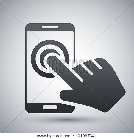 Touch Screen Smartphone Icon, Vector
