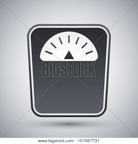 Vector Bathroom Scales Icon