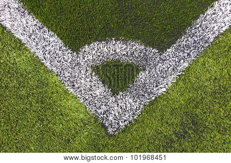 Artificial Turf Of A Football Or Soccer Field