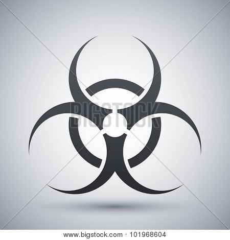 Vector Biohazard Sign Or Icon