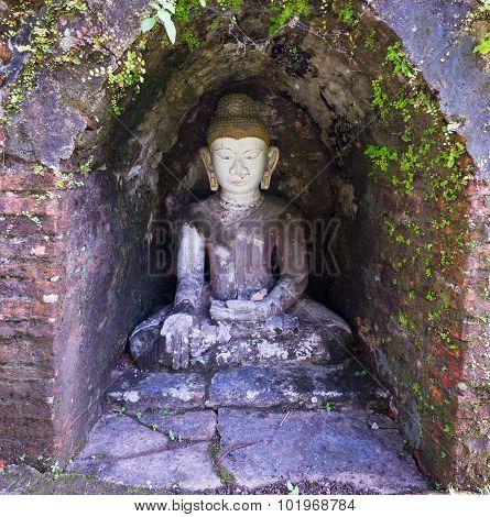Buddha Image In Mrauk U, Myanmar