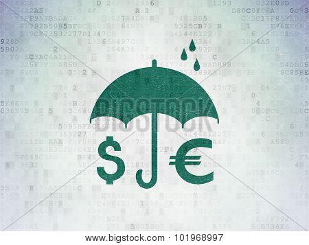 Money And Umbrella on Digital Paper background