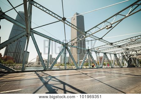 Steel Bridge In Tianjin