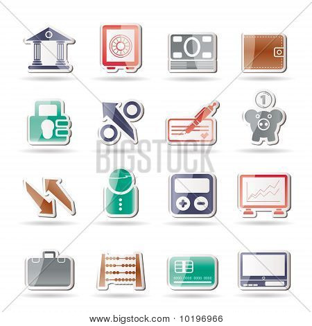 Ícones de banco, negócios e Finanças